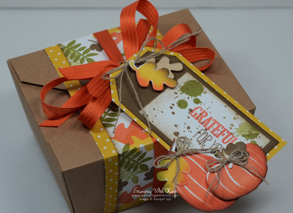 Stampin Up Take Out Box - Fun Fall- Fall Fest card by Kristi @ www.stampingwithkristi.com