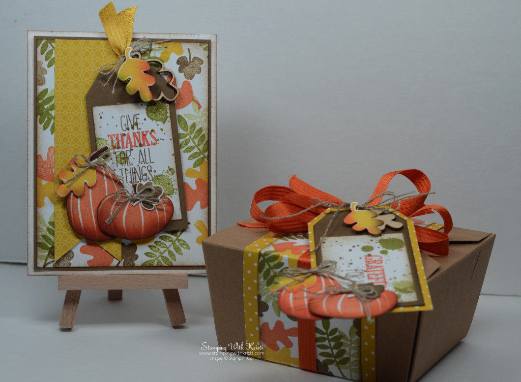 Stampin Up Fun Fall & Fall Fest card by Kristi @ www.stampingwithkristi.com