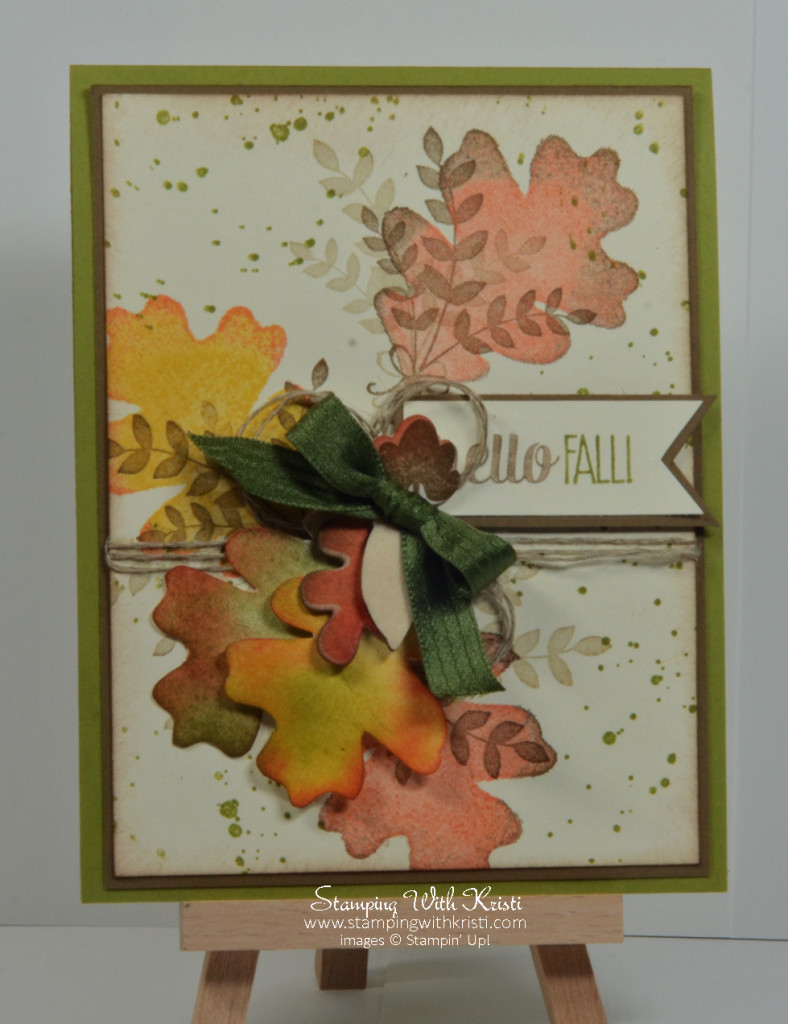 Stampin Up For All Things card by Kristi @ www.stampingwithkristi.com