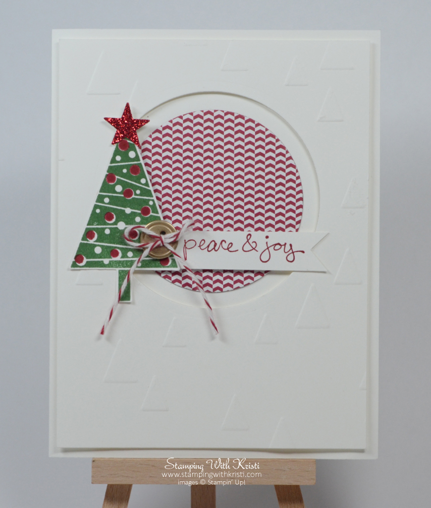Stampin Up Festival of Trees card by Kristi @ www.stampingwithkristi.com