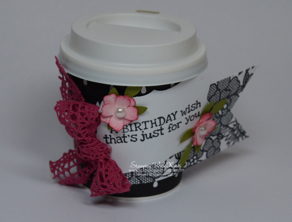 Stampin Up Artisan Embellishment Kit Mini Coffee Cup card by Kristi @ www.stampingwithkristi.com