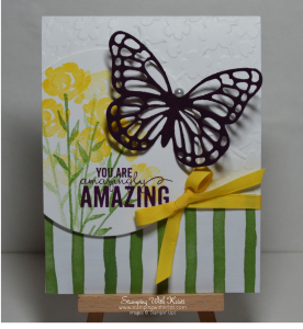 Stampin Up Painted Petals with Butterfly Framelit card by Kristi @ www.stampingwithkristi.com
