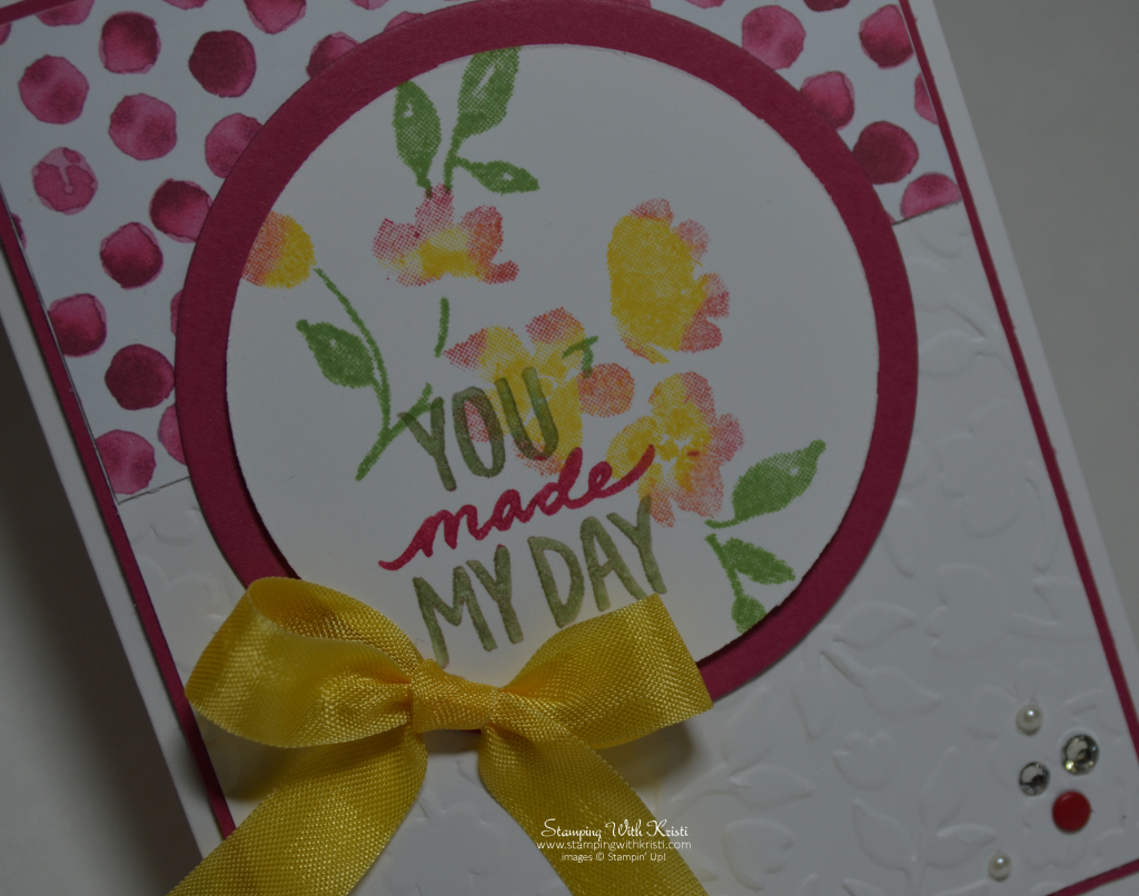 Stampin Up Painted Petals card by Kristi @ wwww.stampingwithkristi.com