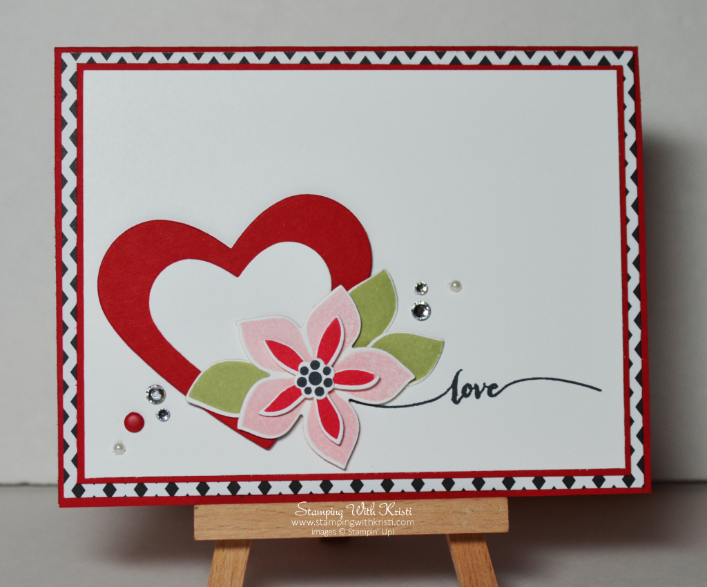 Stampin Up Flower Patch Valentines card by kristi @ www.stampingwithkristi.com