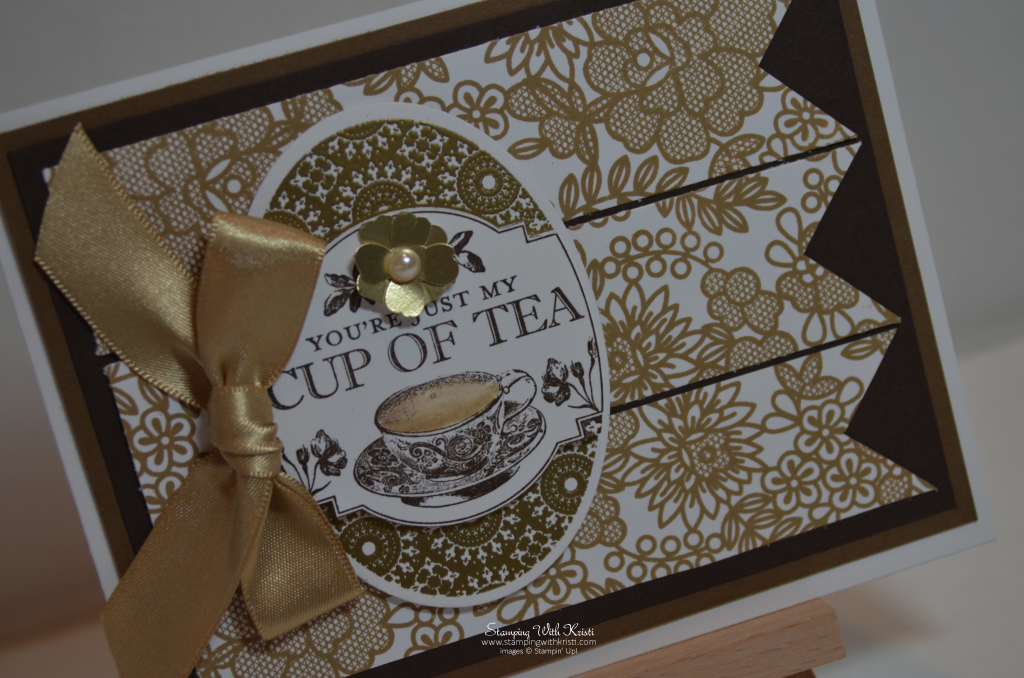 Stampin Up Tea Party card by Kristi @ www.stampingwithkristi