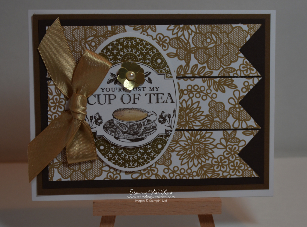 Stampin Up Tea Party card by Kristi @ www.stampingwithkristi.com