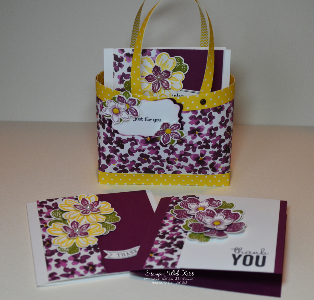 Stampin Up Bag In A Box by Kristi @ www.stampingwithkristi.com