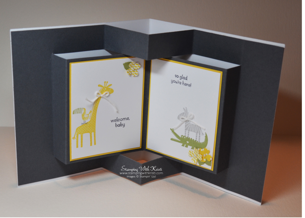 Stampin Up Zoo Babies card by Kristi @ www.stampingwithkristi.com