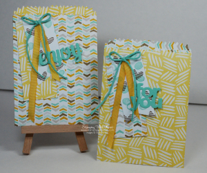 Stampin Up mini treat bag thinlits by Kristi@www.stampingwithkristi.com