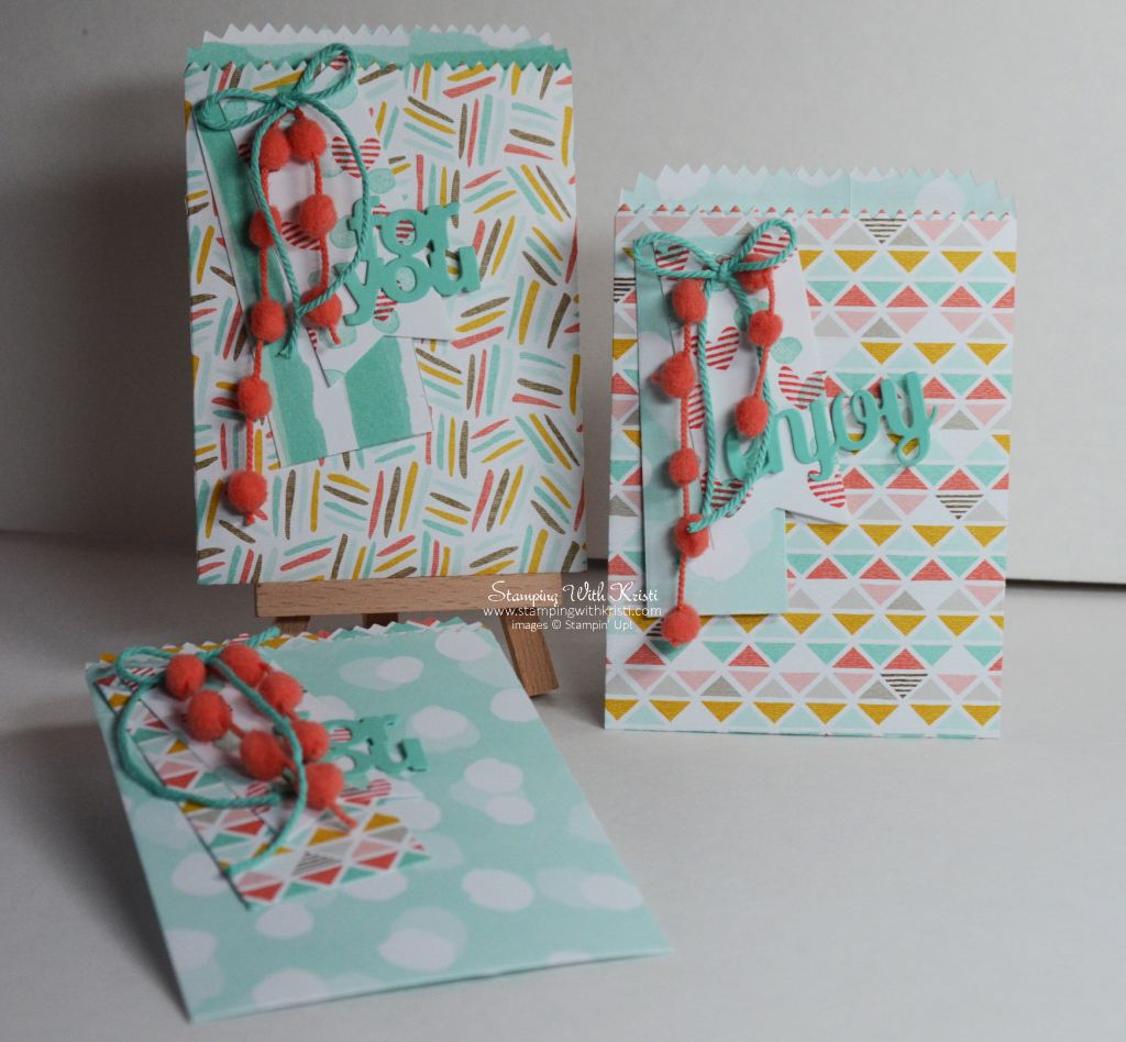Stampin Up mini treat bag thinlit project by Kristi @ www.stampingwithkristi.com