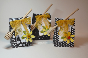 Stampin Up Bee Themed Party Favor Bag by Kristi @ www.stampingwithkristi.com