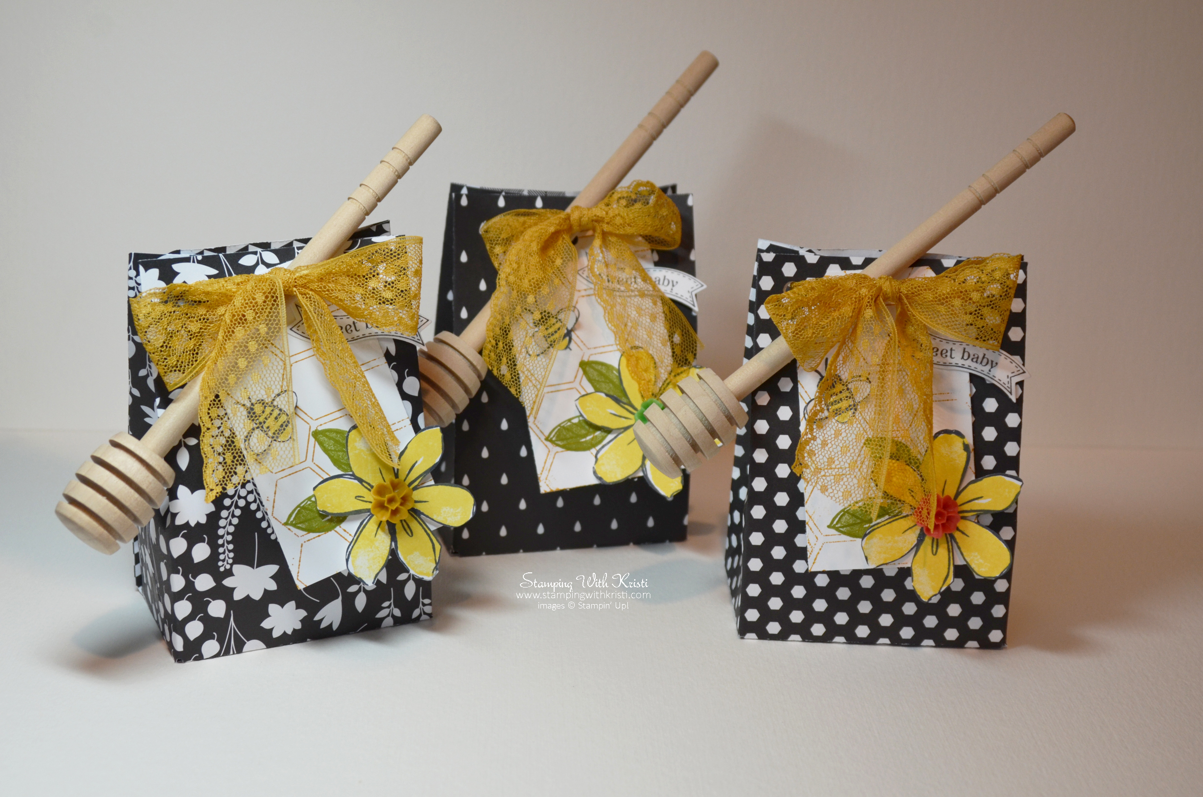 Stampin Up Bee Themed Party Favor Bag By Kristi Stampingwithkristi
