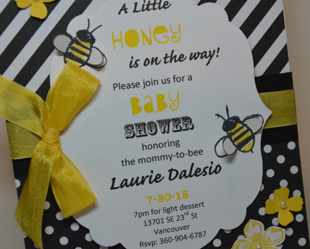 Stampin Up Garden in Bloom Baby Shower Invitaion by Kristi @ www.stampingwithkristi.com