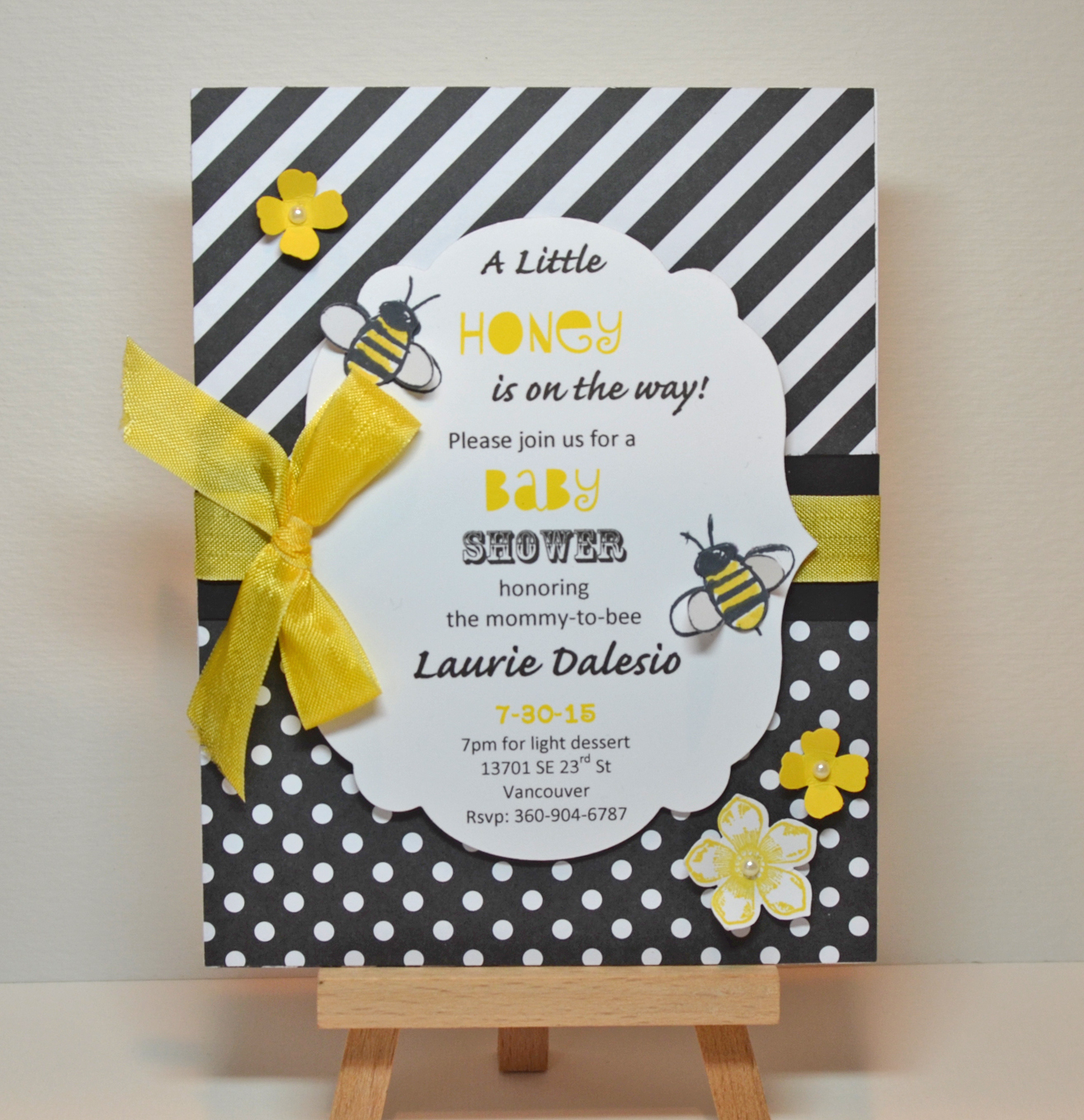 Stampin Up Garden in Bloom Baby Shower Invitation - Stamping With Kristi