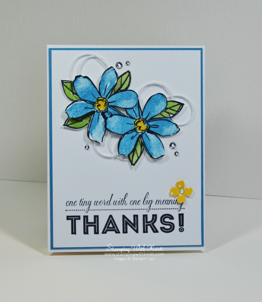 Stampin Up Garden In Bloom card by Kristi @ www.stampingwithkristi.com