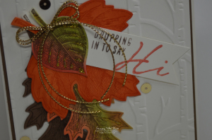 Stampin Up Vintage Leaves card by Kristi @ www.stampingwithkristi.com