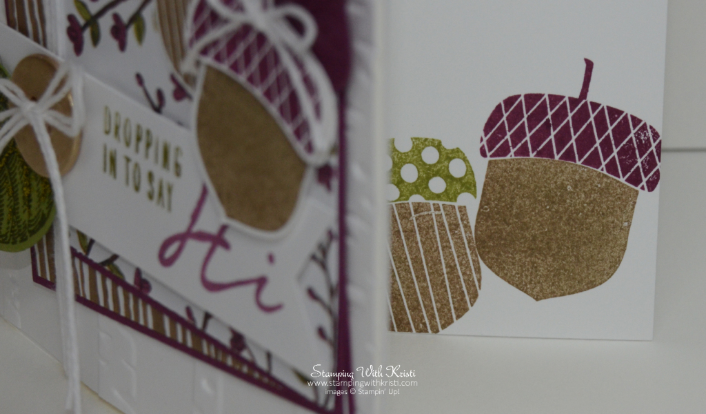 Stampin Up Acorny Thank you card by Kristi @ www.stampingwithkristi.com