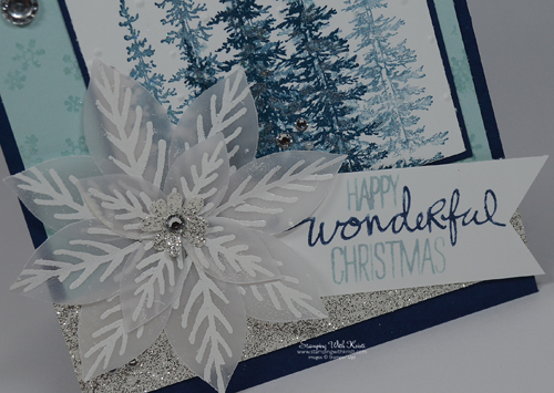 Stampin Up Wonderland & Reason for the Season card by Kristi @ www.stampingwithkristi.com