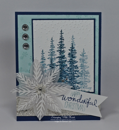 Stampin Up Wonderland and Reason for the Season card by Kristi @ www.stampingwithkristi.com