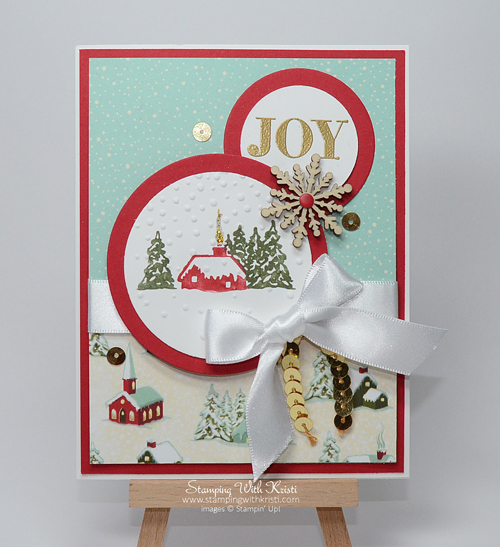 Stampin Up A Cozy Christmas card by Kristi @ www.stampingwithkristi.com