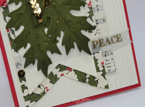 Stampin Up Vintage Leaves Christmas card by Kristi @ www.stampingiwthkristi.com