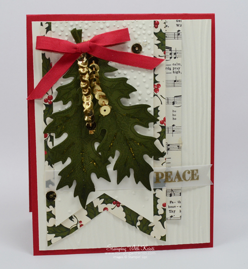 Stampin Up Vintage Leaves Christmas card by Kristi @ www.stampingwithkristi.com