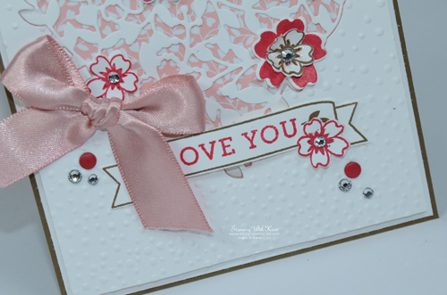Stampin Up Bloomin Love card by Kristi @ www.stampingwithkristi.com