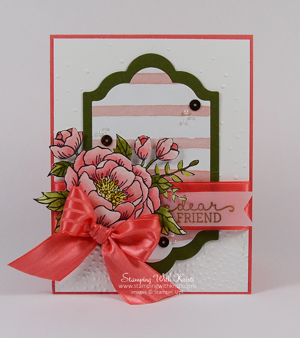 Stampin Up Birthday Blooms card by Kristi @ www.stampingwithkristi.com