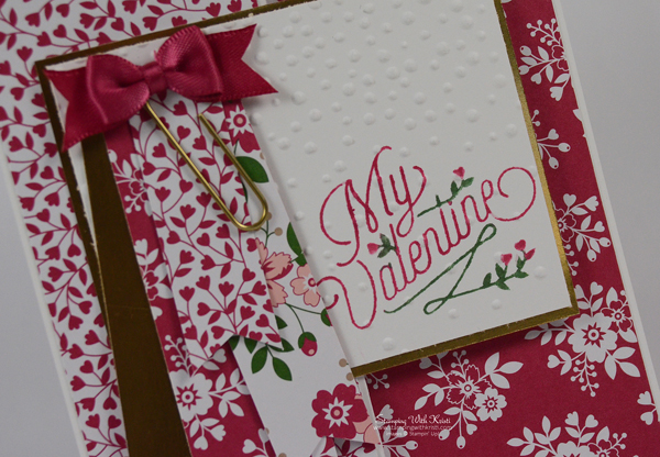 Stampin Up Love Blossoms card by Kristi @ www.stampingwithkristi.com