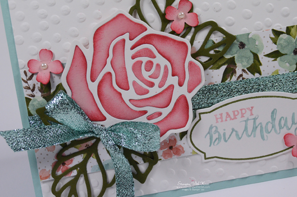 Stampin Up Rose Garden card by Kristi @ www.stampingwithkristi.com