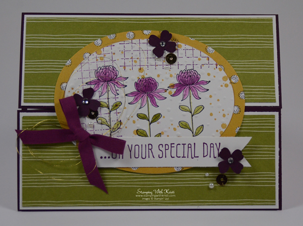 Stampin Up Flowering Fields card by Kristi @ www.stampingwithkristi.com