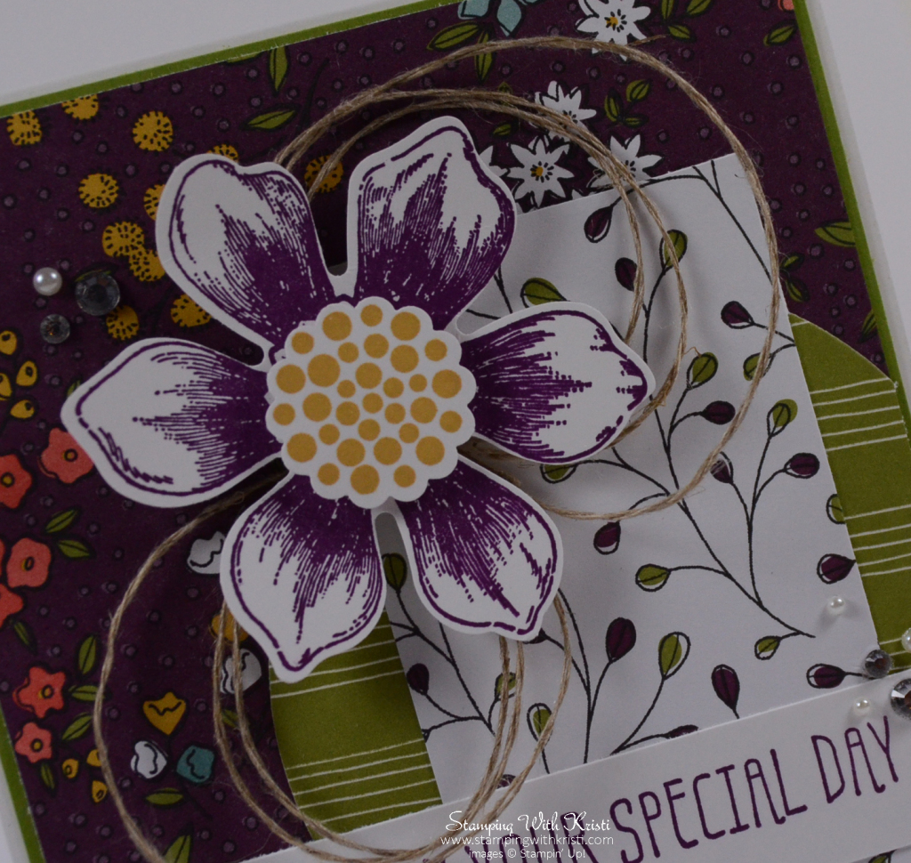 Stampin Up Beautiful Bunch card by Kristi @ www.stampingwithkristi.com