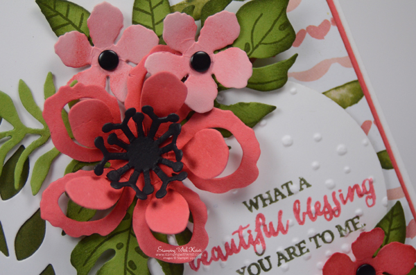 "Stampin Up ""Botanical Blooms card by Kristi @ www.stampingiwthkristi.com"