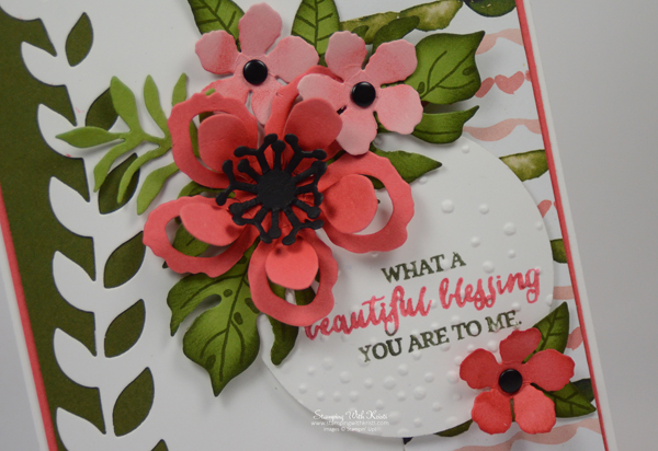 "Stampin Up ""Botanical Blooms card by Kristi @ www.stampingwithkristi.com"
