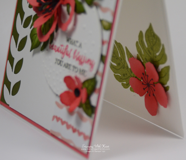 "Stampin Up ""Botanical Blooms"" card by Kristi @ www.stampingwithkristi.com"