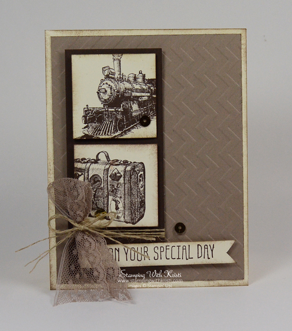 "Stampin Up ""Traveler"" card by Kristi @ www.stampingwithkristi.com"