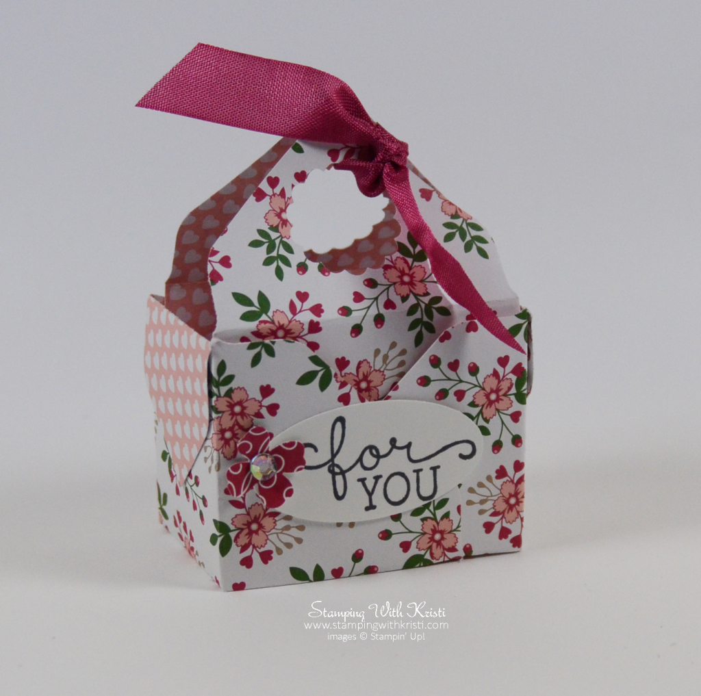 Stampin Up Love Blossom box by Kristi @ www.stampingwithkristi.com