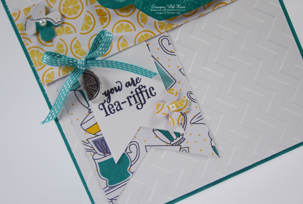 Cup and Kettles tea pot card by Kristi @ www.stampingwithkristi.com