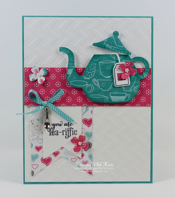 Stampin Up Cups and Kettles tea pot card by Kristi @ www.stampingwithkristi.com