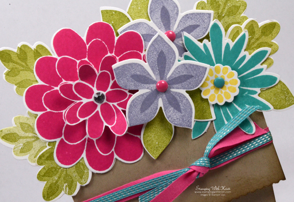 Stampin Up Flower Patch card by Kristi @ www.stampingwithkristi.com
