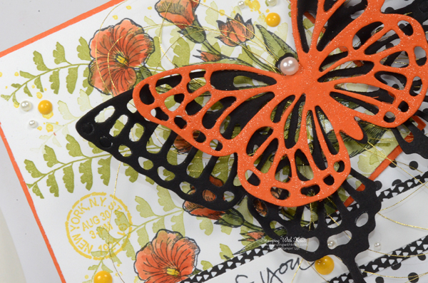 Stampin Up Butterfly Basics card by Kristi @ www.stampingwithkristi.com