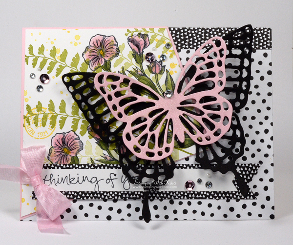 Stampin Up Butterfly Basic card by Kristi @ www.stampingwithkristi.com