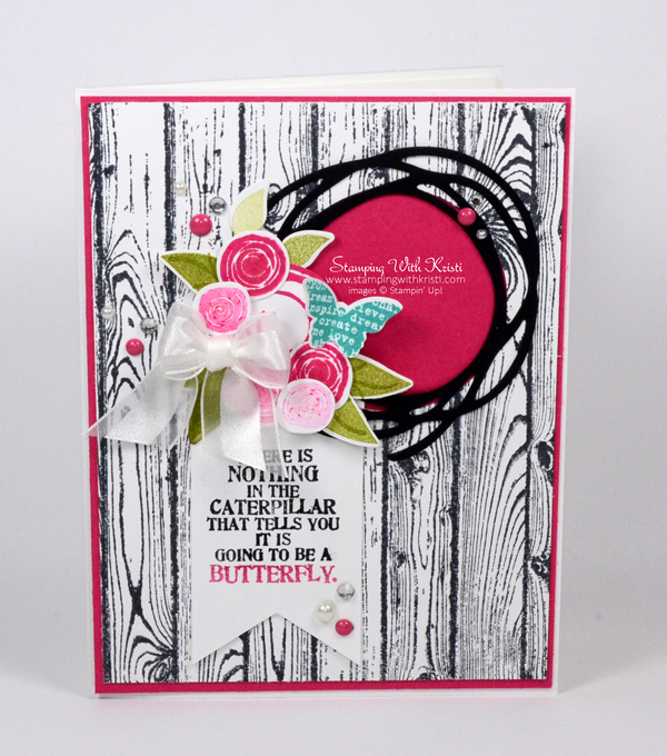 Stampin Up Swirly Bird card by Kristi @ www.stampingwithkristi.com
