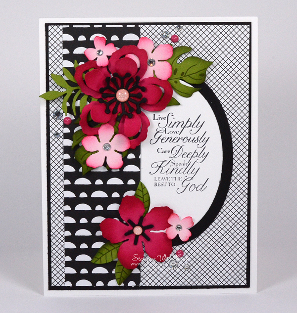 Stampin Up Botanical Blooms card by Kristi @ www.stampingiwthkristi.com