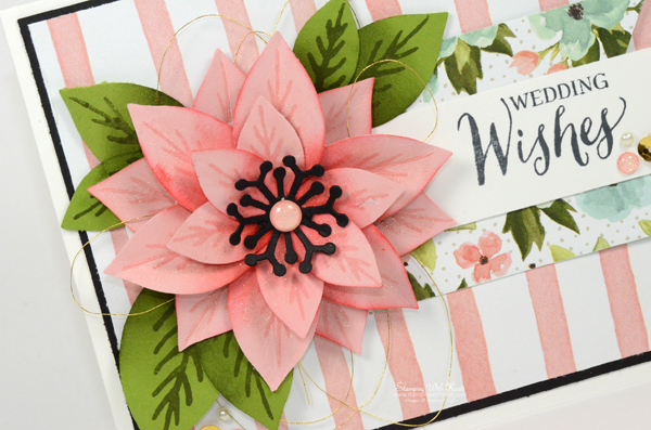 Stampin Up Festive Flower Punch card by Kristi @ www.stampinwithkristi.com
