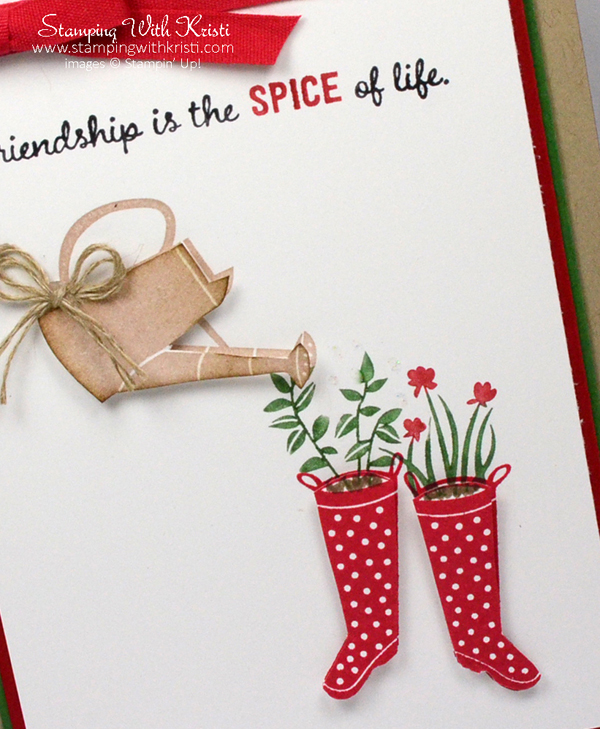 Stampin Up Gift from the Garden card by Kristi @ www.stampingwithkristi.com