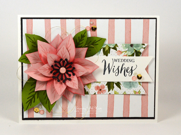 Stampin Up Festive Flower Punch card by Kristi @ www.stampingwithkristi.com