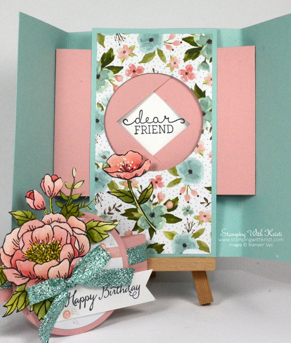 Stampin Up Birthday Blooms card by Kristi @ www.stampinwithkristi.com