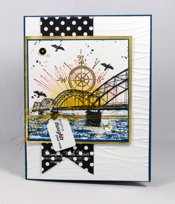 Stampin Up Wherever You Go card by Kristi @ www.stampingwithkristi.com