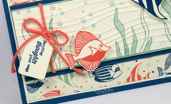 Stampin Up Seaside Shore card by Kristi @ www.stampingwithkristi.com